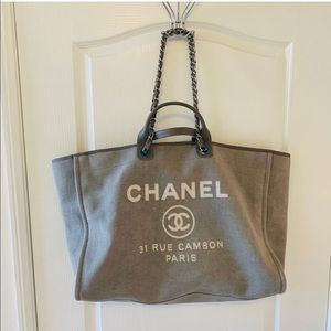 ❌SOLD❌ CHANEL XL Deauville Tote